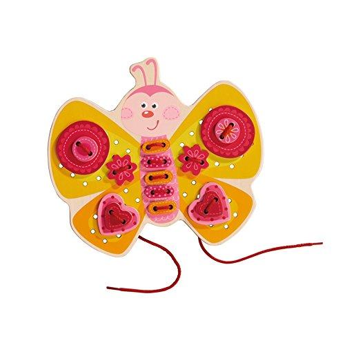 HABA- Jeu de Laçage Papillon, 301124