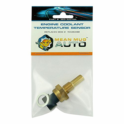 Mean Mug Auto 385-32019A Engine Coolant Temperature Sensor With Washer - Compatible with Chevrolet, GMC, Buick - Replaces OEM #: 15326388
