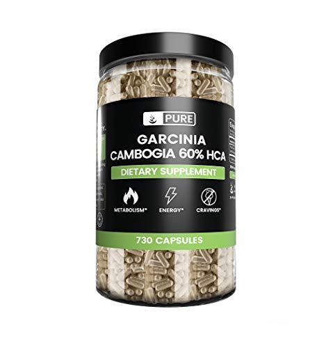 Garcinia Cambogia | 730 Capsules | 8 Month Supply | 60% HCA, Natural & Non-GMO | Gluten-Free Carb Blocker | No Filler or Additives | Guaranteed Purity...