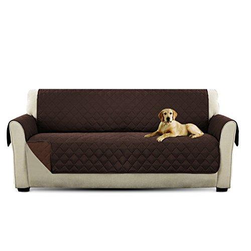 PETCUTE Lujo Cubre para Silla Fundas de Sofa Protector de sofá o sillón, Dos o Tres plazas Marrón 3 plazas