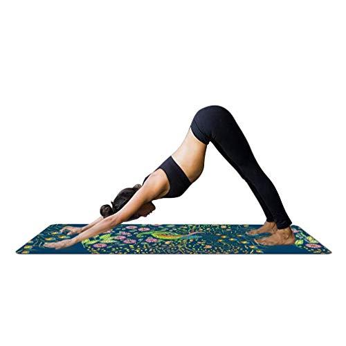 JameStyle26 Yoga Mandala Print Yogamatte mit Tasche 1,5 mm dünn weich leicht faltbar rutschfest aus Naturkautschuk Travel Fitness Gymnastik Outdoor...