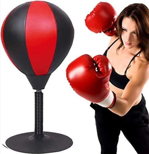Vrijstaande Desktop Bokszak-Stress Buster Relief met Stand Boksen Punch Bal Zuignap Reflex Spanning en spanning Speelgoed voor vader Kinderen