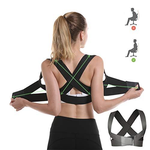 Posture Corrector for Women and Men Under Clothes, Adjustable Shoulder Straps Upper Back Brace for Posture Correction Clavicle Support Belt/Back Straightener/Posture Trainer for Pain Relief - M