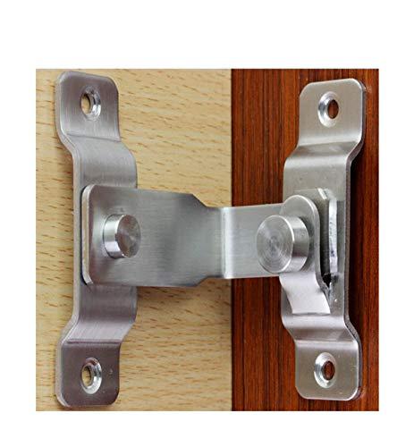 Hebilla de la puerta de 90 grados con cerradura de ángulo recto ventana de la puerta de la habitación puerta de la puerta hebilla hebilla de la puerta antirrobo cerradura de la hebilla