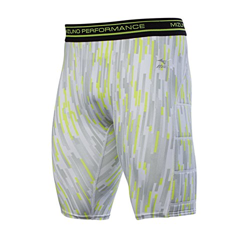 Mizuno Adult Baseball Breaker Padded Sliding Shorts, Grey, X-Large