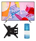 """Samsung QN65Q60TA 65"""" Ultra High Definition 4K Quantum HDR Smart QLED TV with a Walts TV Medium Full Motion Mount for 32""""-65"""" Compatible TV's and Walts HDTV Screen Cleaner Kit (2020)"""