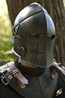 warriorpoint Medieval Barbuta Helmet Knight Templar Crusader Armour Helmet+exp Ship