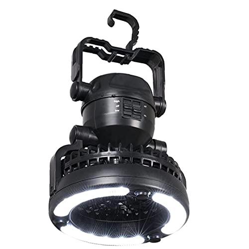 LjzlSxMF Lámpara Que acampa del Ventilador, Colgantes Impermeable de múltiples Funciones Carpa de luz Ventilador con 18 Bombillas LED del Camp