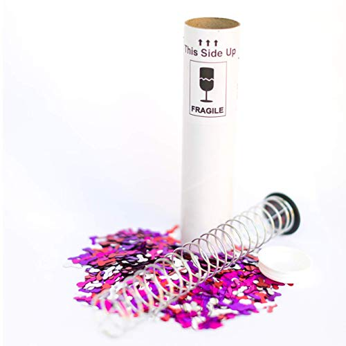 Pranks Anonymous Spring Loaded Glitter Bomb - Glitter Pranks for Adults - Confetti Cannon - Prank Gifts - Shock Pranks - Spring Loaded Confetti Popper - Gag Gifts - (1.5 oz, Mini PP)