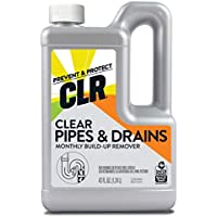 CLR Clear Pipes & Drains Monthly Build Up Remover 42 Ounce Bottle