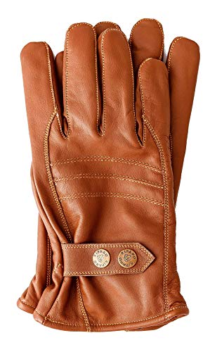 Riparo Men's Winter Italian Nappa Leather Dress Driving Gloves (Wool/Fleece Lining) (Brown, X-Large)