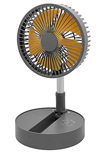 Exelential(エクセレンシャル) Amazon限定ブランド 扇風機 持ち運び 旅行用 旅行 屋外 ファン サーキュレーター USB充電 伸縮 風量調節 角度調節 コードレス バッテリー ワイヤレス 小型 コンパクト 収納 f1620YL どこでもファン