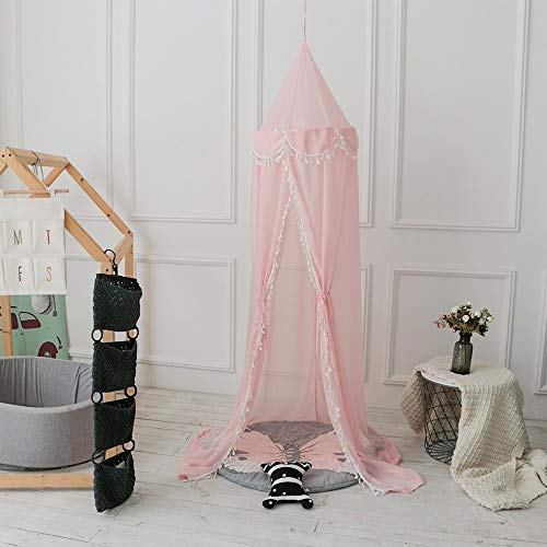 Play house Bed Tent Princess Prince Kids Play Tent, Children Crib Mosquito Net Toy, Mesh Playhouse for Boys Girls Indoor Plays,home Bedroom Decoration-H2.4m,Easy to install play tent ( Color : Pink )