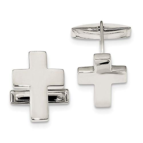 925 Sterling Silver Cross Religious Cuff Links Mens Cufflinks Link Fine Jewelry For Dad Mens Gifts For Him