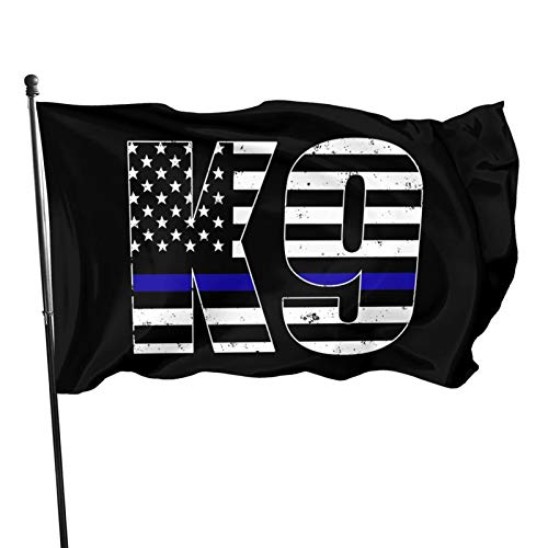 Police K9 Thin Blue Line 3x5 Foot Flag Outdoor Flag 100% Single-Layer Translucent Polyester 3x5 Ft Flag