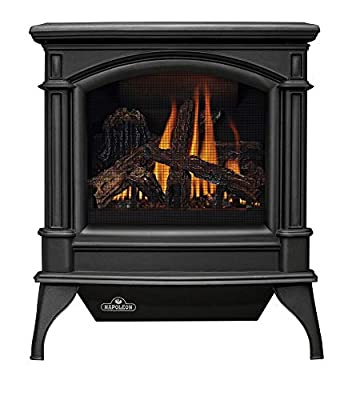 Napoleon GVFS60-1N Fireplace, Natural Gas Stove Vent Free 30,000 BTU - Painted Metallic Black