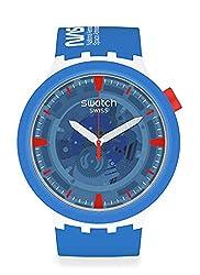 Swatch Big Bold BIOCERAMIC Quartz Silicone Strap, Blue, 20 Casual Watch (Model: SB03Z100)