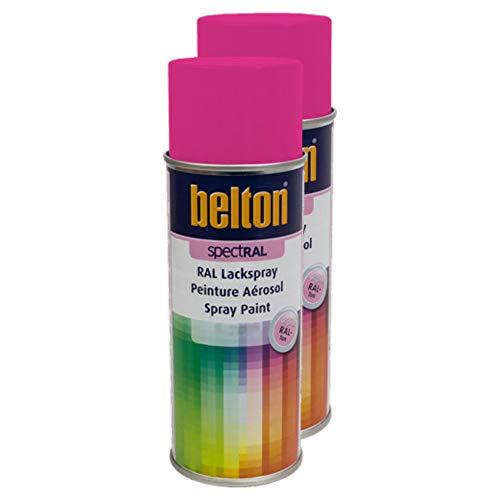 Kwasny 2X Belton Spectral RAL Lackspray Lack Spray Spraylack Erikaviolett Hochglanz RAL 4003 400 Ml