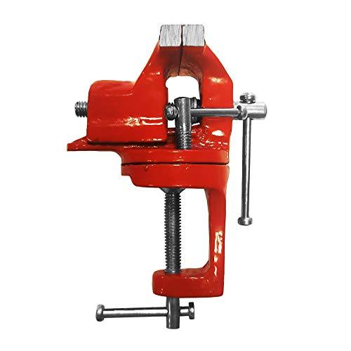 Max-Power 040256 - Tornillo de banco giratorio de hierro fundido, 50 mm