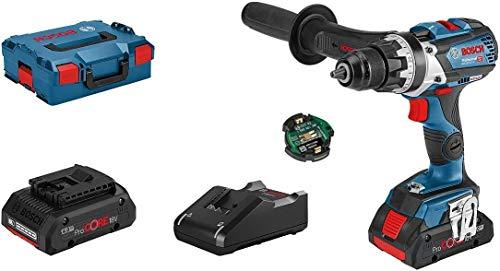 Bosch Professional 18V System GSR 18V-110 C - Atornillador a batería (110 Nm, Ø máx. tornillo 12 mm, módulo Connectivity, 2 baterías ProCORE x 4,0 Ah, en L-BOXX)
