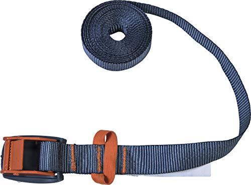 Connex Zurrgurt - Einteilig - 3 m x 25 mm - 200 kg maximale Belastbarkeit - Mit Klemmschloss, ohne Haken - Aus Polyester / Spanngurt / Ladungssicherung / B34426