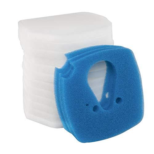 LTWHOME Filterschwamm Passend für Eheim Professional 3 2080/2180 (3 Blau und 12 Weiß)