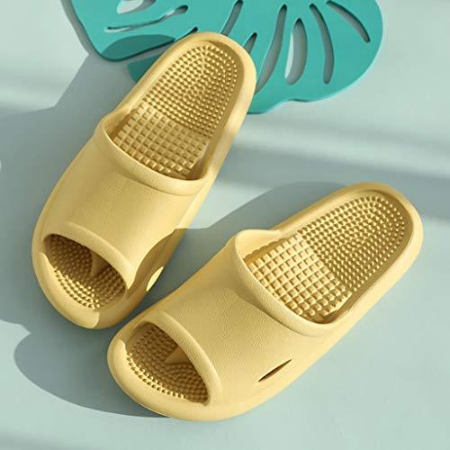 XIALIUXIA Stoßdämpfende Damen Sandalen, Komfort Durch Polsterung, Senkfußeinlage, Stimulierung Der Fußreflexzonen Und Schmerzlinderung, Durchblutungsfördernd,D,M