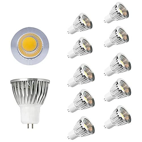 JYKFJ Confezione da 10 lampadine a LED per faretti a pannocchia, 12w, Non dimmerabile, per Interni/Esterni, faretto per paesaggi, equivalente a 100w, Ac85-265v, Angolo del Fascio di 60°