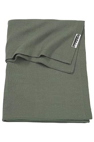 Meyco 2753032 Ledikantdeken knit basic, 100x150 cm, forest green