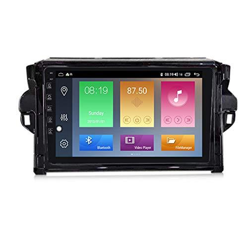 ADMLZQQ Android MP5 Player GPS Navegación para Toyota Fortuner 2 2015-2018, Soporte WiFi/FM Radio de Coche Estéreo/BT Hands-Free Calls/Control del Volante/Cámara Trasera,M600 6+128g