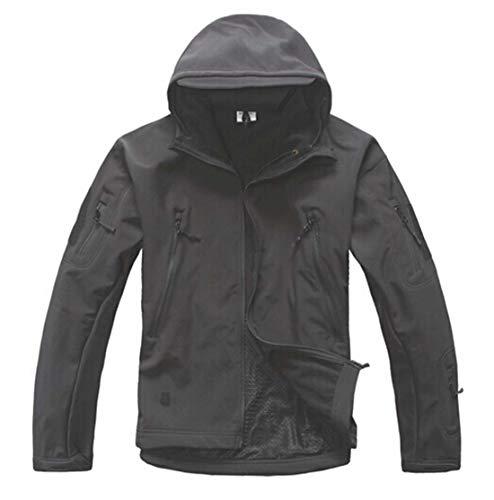 2017 Jacket Men Lurker Shark Skin Soft Shell V 4.0 Military Jacket Waterproof Windbreaker Coat Black XXL