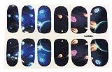 Full Sheet Meteroid Nebula Galaxy Dr Who Inspired Nail Stickers Meteor - Salon Quality Nail Art Nail Wrap Nail Decals - 1 Sheet
