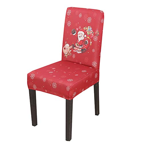 BOLANA Fundaspara sillas de Navidad, Decoración de fundaspara sillas de Navidad, Fundaspara sillas de Navidad, Fundas universales elásticas de impresión modernapara sillas