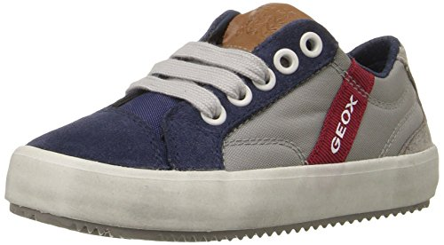 Geox J Alonisso Boy A, Zapatillas para Niños, Grau (GREY/BLUEC0244), 32 EU