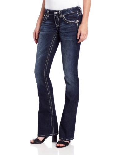 Miss Me womens Thick Stitch Bootcut jeans, Dark Blue, 25 US