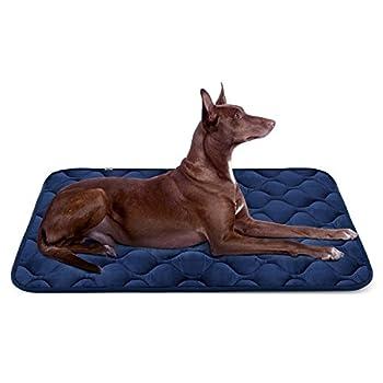 Panier Doux pour Chien, Lit Coussin de Luxe et Durable 107x70 cm, Tapis Antidérapant et Lavable de Chien Hero Dog (Bleu, Grande Taille)