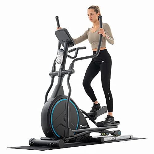 Hop-Sport Ellipsentrainer HS-160CF Stage Elliptical Crosstrainer für Zuhause, 24 kg Schwungmasse, inkl. Unterlegmatte, belastbar bis 150 kg