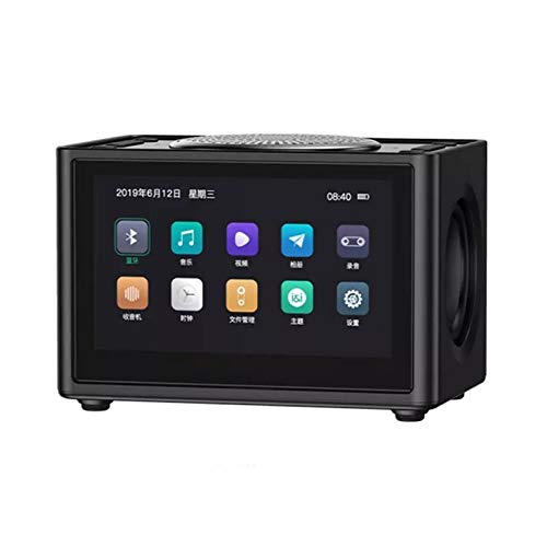 CYC 20W 4,3-Zoll-Display-Radio, 2500-Mah-Lithiumbatterie/Tragbares Bluetooth-Radio/Anruffunktion/Subwoofer-Stereo/Doppelwecker/FM-Radio,Schwarz