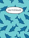 Sketch Book: dolphin Sketchbook for Kids A Large Notebook With Blank Paper For Artists To Drawing, Journaling, Doodling And Sketching