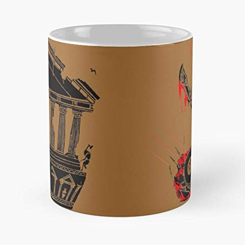 Greeo Gow Design Legend War Kratos God Game Animation Graphic of Best Taza de café de cerámica de 315 ml Eat Food Bite John Best Taza de café de cerámica de 315 ml