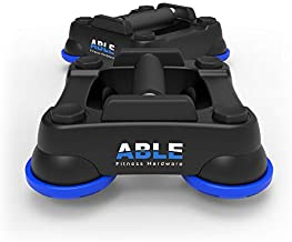 ABLE Push Up Stands - Home Gym Workout Training Set – Physical Fitness Activity Exercise Device – Rotating Perfect Pushup - Ab, Cardio, Core, Upper, Lower Body Trainer (Blue)