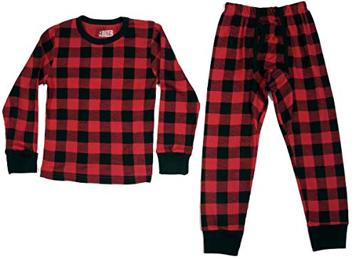 At The Buzzer Thermal Underwear Set for Boys 95366-RED-14-16