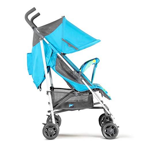 CAIM kinderwagen, eenvoudige kinderwagen met vier wielen, opvouwbare 5-punts veiligheidsgordelrem, schokdemping en ademend design met één knop kinderwagen