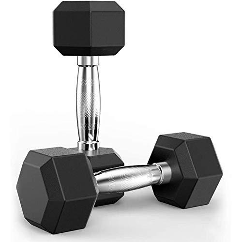 Uther Hanteln Gewichte Set Heavy Choose Weight Barbell Set Hex Gummi Hantel mit Metallgriffen Heavy Hantel Set für Muskeltraining (4,5 kg x 2)