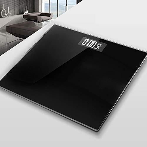 Mdsfe CE Badezimmer Körper Bodenwaage Glas Smart Elektronische Waage USB-Aufladung LCD-Display Körper wiegen Digitale Körpergewicht Waage - a1, Linie Roségold