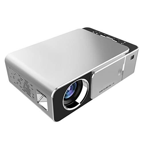 DuLing Proyector casero, Mini proyector LED, LCD 1280P 2000ANSILM Soporte HDMI, AV, VGA, USB, for el Cine en casa (Color : Silver)