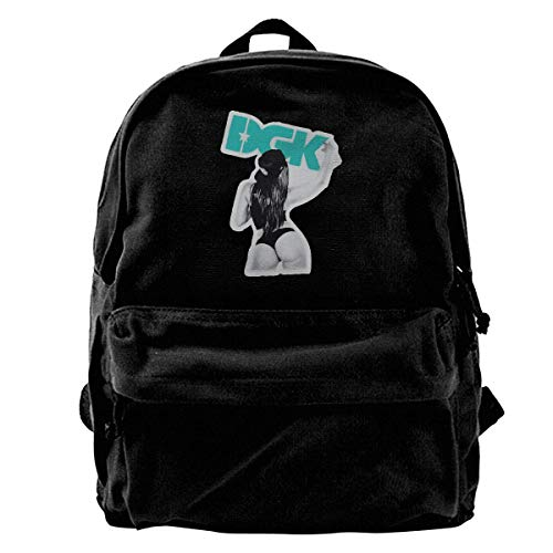 Yuanmeiju Mochila de lona DGK Girl Graphic Rucksack Gym Hiking Laptop Shoulder Bag Daypack for Men Women