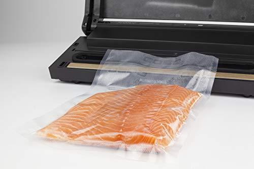 CASO SousVide Set Essen & Trinken - bestehend aus CASO GourmetVac 180 & CASO Sous Vide Garer SV300, Lebensmittel bis zu 8x länger frisch, wasserfester SousVide Stick - bis 90°C in 0.5 °C Schritten - 7