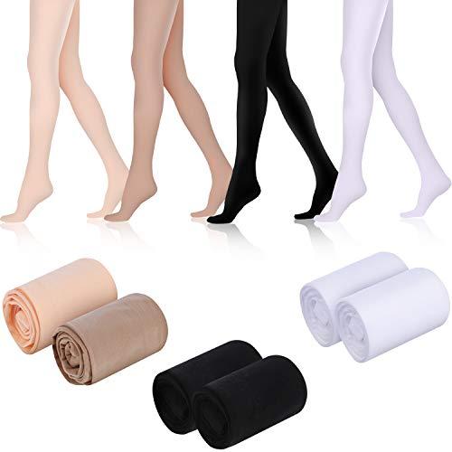 SATINIOR 6 Pares de Medias de Baile de Ballet Medias de Baile para Niñas Medias de Ballet Suaves para Niños Pequeños para Suministros de Disfraces de Baile para Niñas Pequeñas