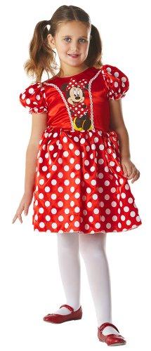 Disney - Disfraz de Minnie Mouse clásico para niña, infantil 3-4 años (881243-S)